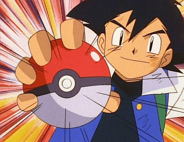 ash poke ball caught