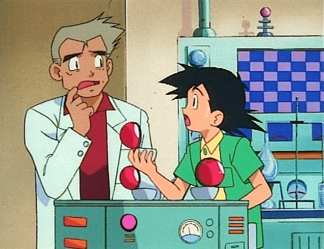 ash professor oak start pokemon decision choose pick
