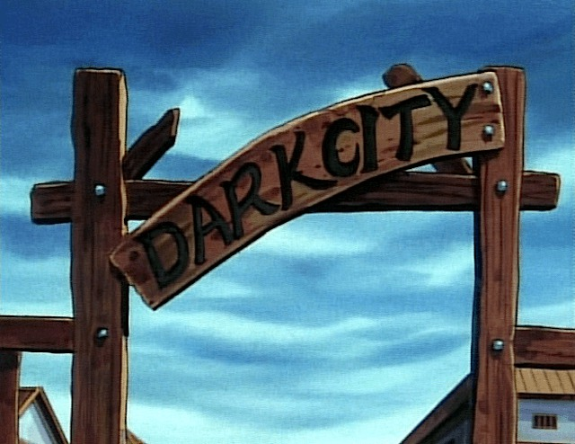 dark city sign