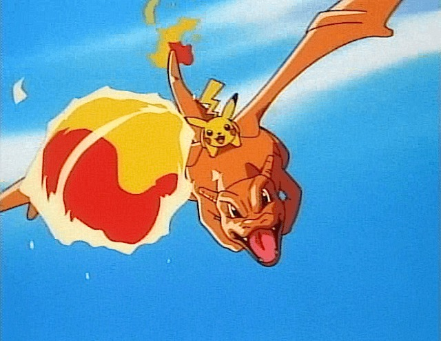 pikachu charizard flying fireball