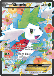 shaymin-ex legendary treasures rc21