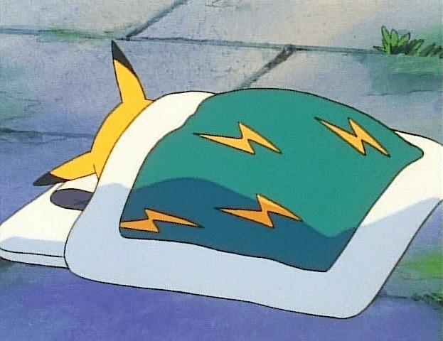 pikachu sleeping blanket