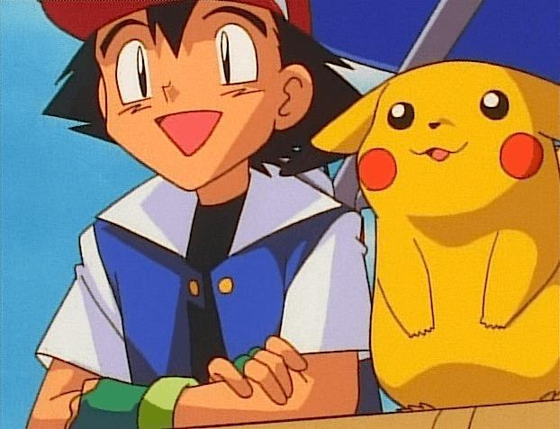 ash pikachu happy