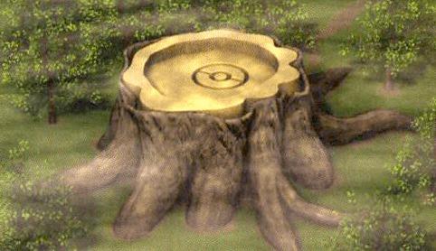 giant stump artwork