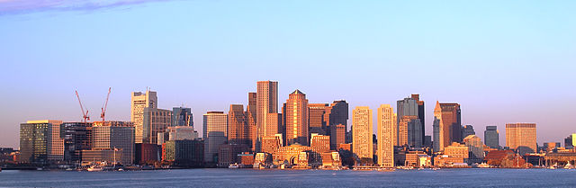 boston skyline early morning