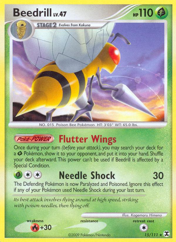 Beedrill Rising Rivals RR 15 Pokemon Card