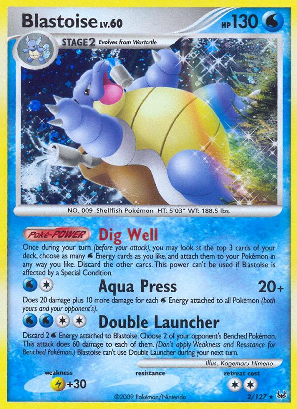 Blastoise Platinum PL 2 Pokemon Card