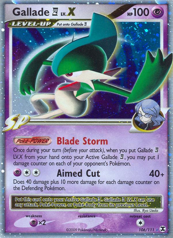 Gallade 4 LV.X Rising Rivals RR 106 Pokemon Card