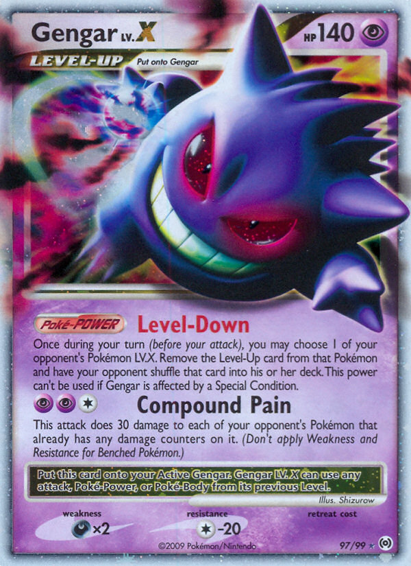 Gengar LV.X Arceus AR 97 Pokemon Card