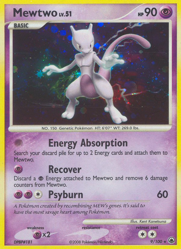 Mewtwo Majestic Dawn MD 9 Pokemon Card