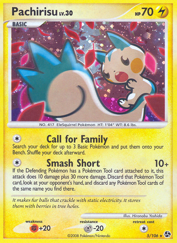 Pachirisu Great Encounters GE 5 Pokemon Card