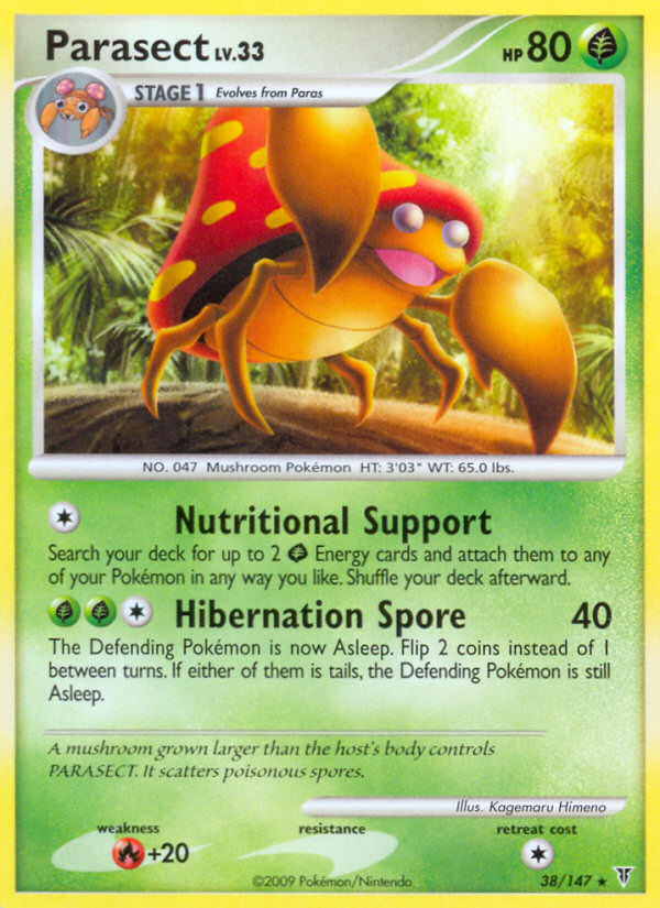 Parasect Supreme Victors SV 38 Pokemon Card