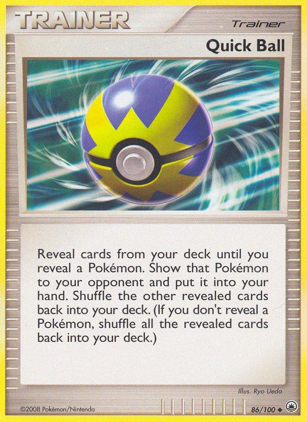 Quick Ball Majestic Dawn MD 86 Pokemon Card