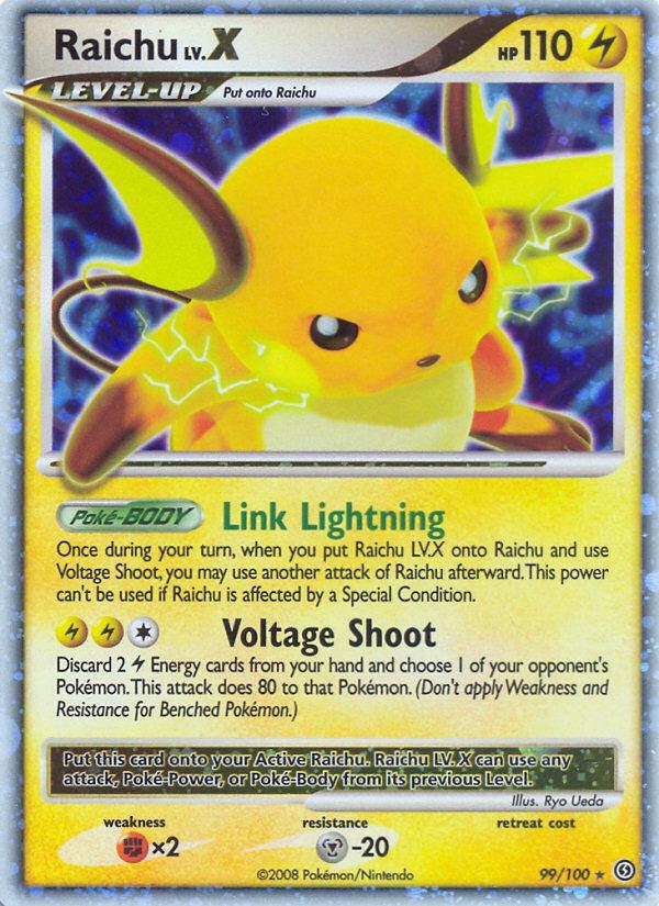 Raichu LV.X Stormfront SF 99 Pokemon Card