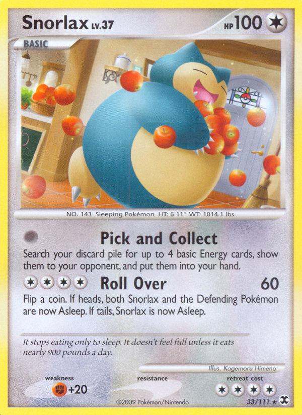 Snorlax Rising Rivals RR 33 Pokemon Card