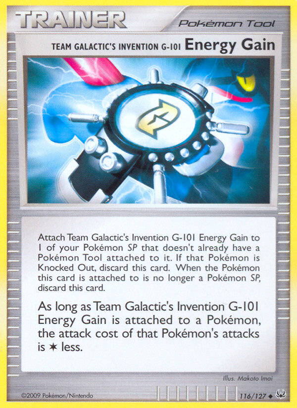 Team Galactic's Invention G-101 Energy Gain Platinum PL 116 Pokemon Card