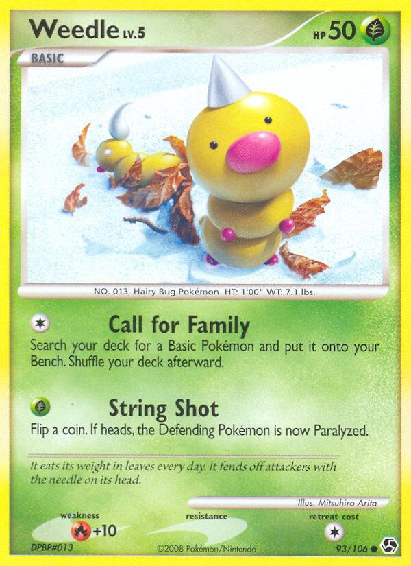 Weedle Great Encounters GE 93 Pokemon Card