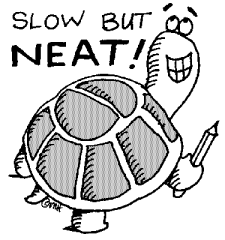 slow but neat turtle clipart