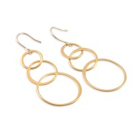 Six Sisters Beadworks - LINDA Gold Loop Earrings, 14K gold ...