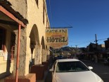 There's a gift shop inside this Oatman Hotel