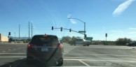 Heading out, the turn off to Fountain Hills