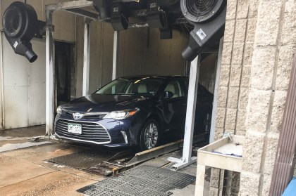 Getting the Avalon washed before its return