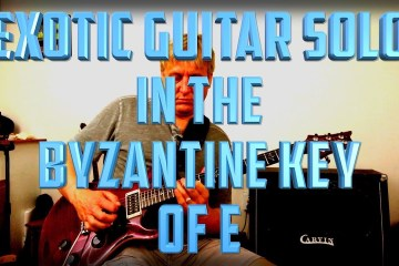 Guitar Solo to Byzantine Scale in E