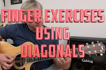 Guitar Finger Exercises: Diagonals