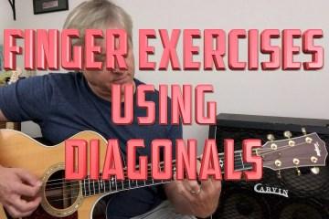 Guitar Finger Exercises: Diagonals