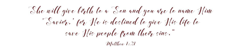 Matthew 1 21