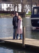 Bob and Andi on the Thames