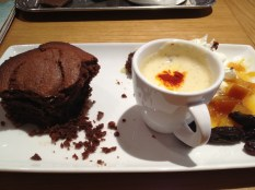 Frederic Blondeel brownie with creme anglaise