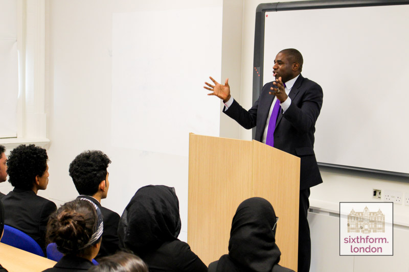 David Lammy MP Speaking To Students At Newham Collegiate Sixth Form Centre (The NCS) As Part Of Our Lecture Programme