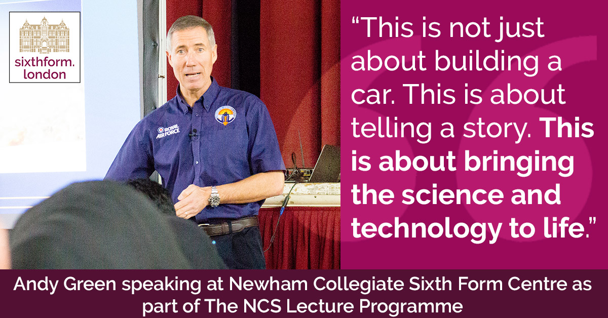 QUOTE Andy Green Meets Students To Discuss Bloodhound SSC And The Engineering Of Land Speed Records - In Video