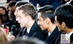 Ed Miliband MP Delivers Speech To Newham Collegiate Sixth Form Students As Part Of The NCS Lecture Programme