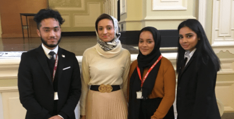 Fatima Manji With Students At Newham Collegiate Sixth Form Centre (The NCS)