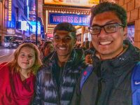 After a busy day visiting Ivy League Universities in New York, students watched Waitress on Broadway