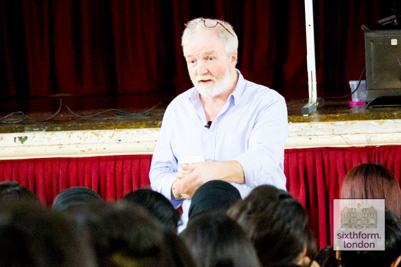 George McGavin Delivering A Lecture To Students At Newham Collegiate Sixth Form Centre (The NCS)