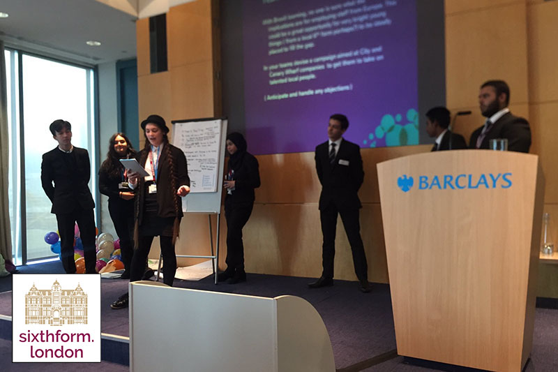 NCS Finance School Students Attend A Barclays Workshop
