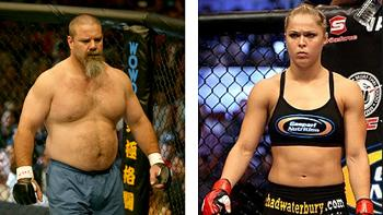 David Tank Abbott and Ronda Rousey