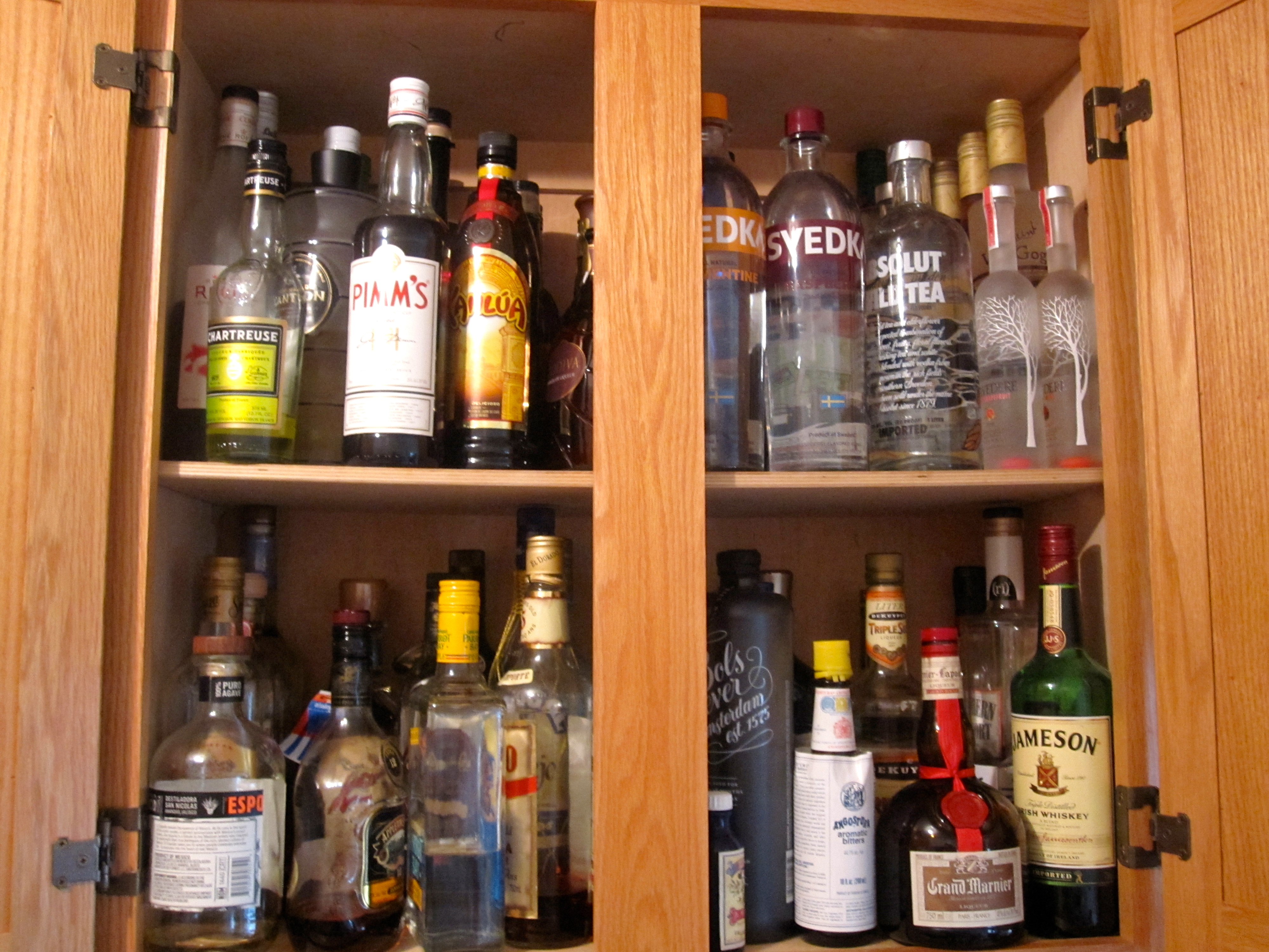 How to Organize Your Liquor Cabinet  Six Twists