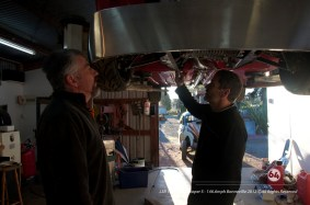 Garry Grant and Guy Griffith add final touches at Alltrax NZ. Photo by Mike Wilson ©2012. All Rights Reserved.