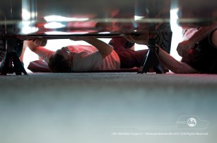 Guy Griffith fixing the under tray. Photo by Mike Wilson ©2012. All Rights Reserved.