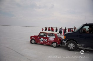 The tall diff ratio meant the Cooper needed a push off the line. Photo by Mike Wilson ©2012. All Rights Reserved.