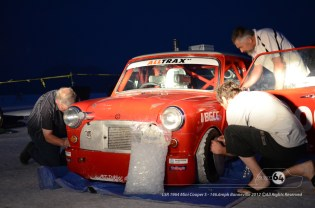 Pre-dawn start preparing the Cooper for it's record run. Photo by Mike Wilson ©2012. All Rights Reserved.