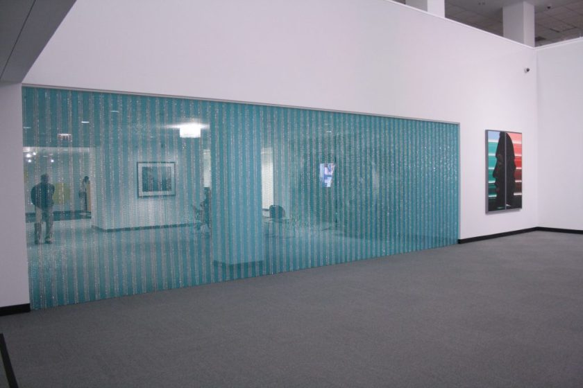 (Left) Felix Gonzalez-Torres and (right) Roger Brown. Installation view. Photo by Sixty Inches From Center.