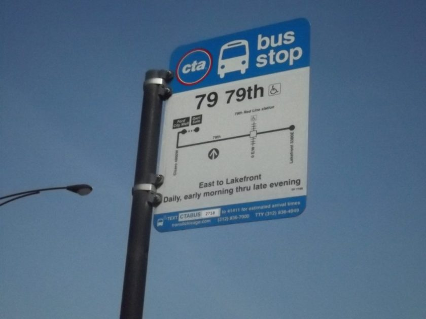 79 th Bus sign