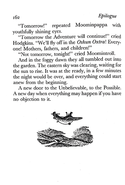 Excerpt from Tove Jansson's The Exploits of Moominpappa. Image courtesy of DEMO Project.