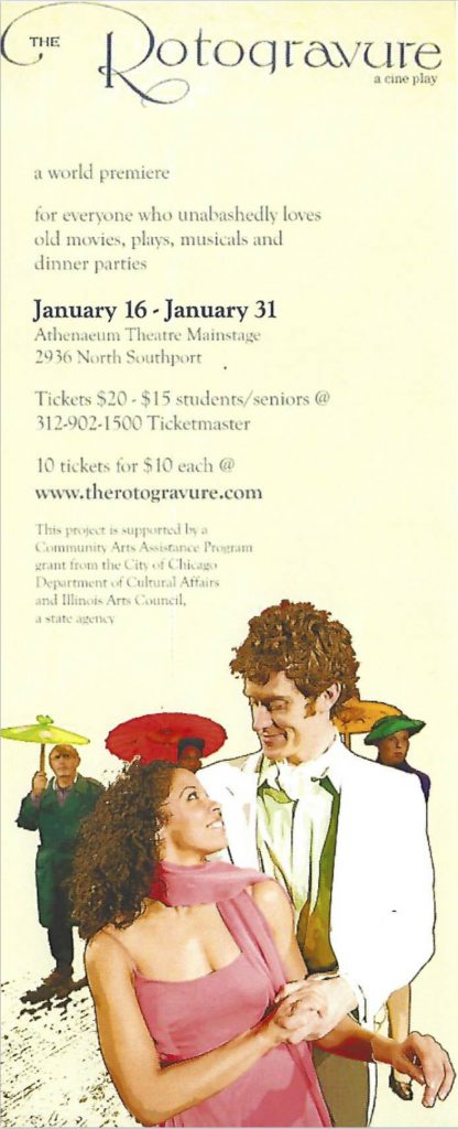 Flyer for The Rotogravure. Image courtesy of the artist.