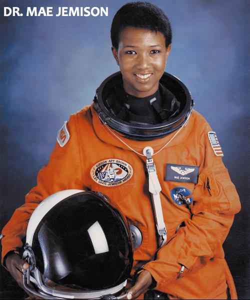 Image: Dr. Mae Jemison, official NASA portrait.